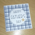Father's Day card - blue with gold star