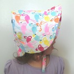 Adjustable Baby Sun Bonnet - Colourful Flamingoes