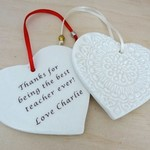 Personalised heart ornament. Christmas decoration. Personalised decoration.