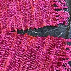Chunky Pink Handwoven Scarf