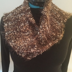 Silver and Gold Handwoven Bouclè Scarf