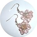 Pink faceted quartz earrings