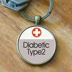 Medical Alert Keyring - Diabetic Type2