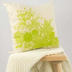 Cushion cover with Succulent Garden print in green. 40cm square.