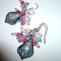 Smokey blue Swarovski crystals