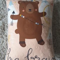 Woodland nursery cushion, Decorative nursery cushion,  baby shower gift