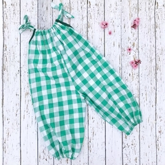 Size 3 green gingham overalls