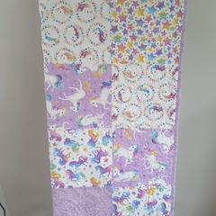 Cot quilt, baby quilt, unicorn quilt/nursery decor/unicorn
