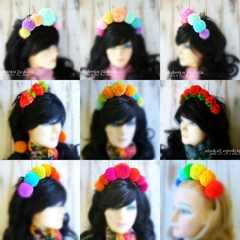 Custom Made Pom Pom Headbands
