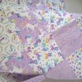 Cot quilt, baby quilt, unicorn quilt/nursery decor/unicorn