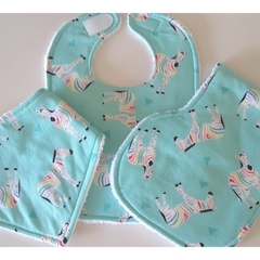 Bib, burp cloth and bandanna gift set 