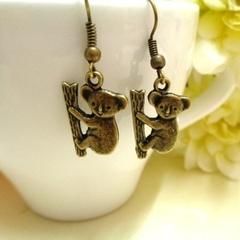 Bronze Koala Earrings