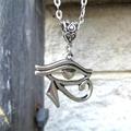 Silver Eye of Horus Necklace, Eye of Ra