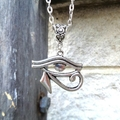 Silver Eye of Horus Necklace, Eye of Ra