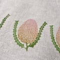 Banksia Linen Tea Towel / Wildflower Tea Towel / Linocut Print Tea Towel