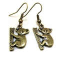 Bronze Koala Earrings
