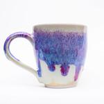Coffee mug - Handmade Green Stoneware 'Cotton candy' purple