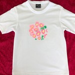 Pink Daisies Painted T-Shirt Size 8