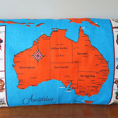 Vintage Retro AUSTRALIA MAP  Cushion / Pillow Case