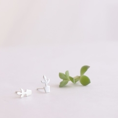 Pot Plant Earrings, House plant Studs, Sterling Silver