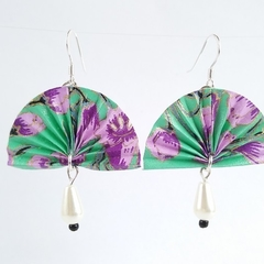 Fan-Origami-turquoise & violet