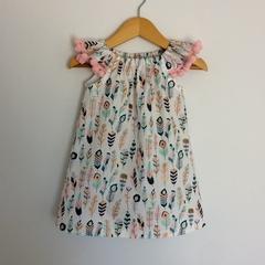 Girls dress, handmade peasant style dress,summer dress, size 2 girls pretty dres