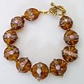 Lamp work glass bracelet