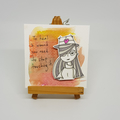 Headline Series : Laila Original Ink on Watercolor Paper