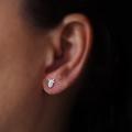 Succulent Stud Earrings in Sterling Silver