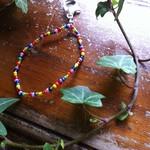 Gorgeous hand threaded Pride inspired, LGBTIQA+ rainbow keychain,pride accessory