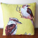 Vintage Retro Australian Kookaburras Cushion