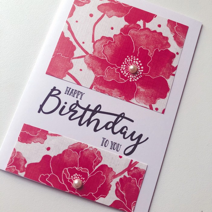 Red Blooms Pearl Lush Scarlet Flowers Happy Birthday Friend Lady Mum