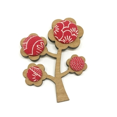Kimono Tree Brooch - Candy Florals