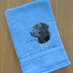 Dog Embroidered Hand Towel
