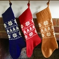 Traditional Knit Christmas Stockings