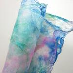 Opal colour silk fusion paper Fibre art and crafts - applique