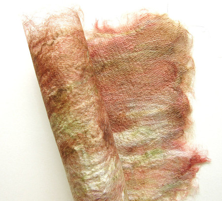 Autumn colours silk fusion craft paper textile art and crafts earth tones