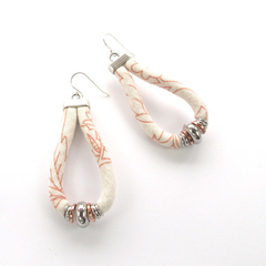 Nora Earrings - Recycled fabric eco-friendly jewellery