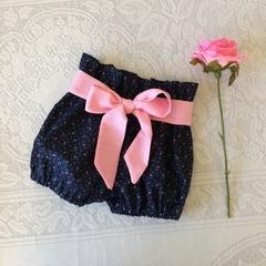 Baby girl bloomers, handmade girls shorties, highwaisted baby bloomers, rosebud