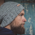 Grey men beanie, grey women beanie, beanies for women, Christmas gift ideas for