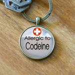 Medical Alert Keyring - Allergic to Codeine