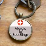 Medical Alert Keyring - Allergic to Bee Sting
