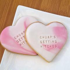 Personalised Vanilla Cookie - Heart 8 pack
