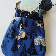 Bag organizer - BLUE - Forest x cat