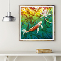 Koi Dreaming - limited edition fine art print ( 15 x 15 inches)