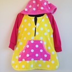 Size 2/3 Girls Beach Towel Dress/Pool Cover up