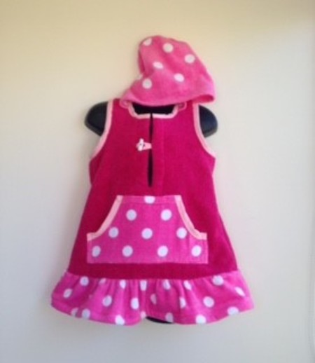 Girls Size 2 - Beach Towel Dress/Pool Cover up