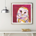 Barn owl fine art print - (15 x 15 in)