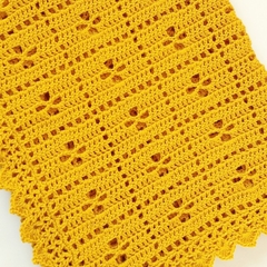 Mustard Newborn Call the Midwife Crochet Baby Blanket