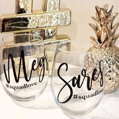 Bridal hashtag glasses, custom names
